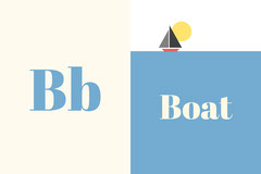 b boat alphabet flashcard  Boats