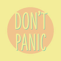 Yellow Dont Panic Instagram Square Graphic Posters met citaten