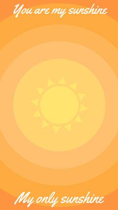 Orange and Yellow Sunshine Smart Phone Wallpaper Sun