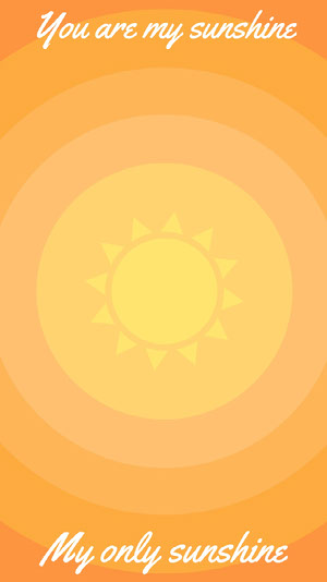 Orange and Yellow Sunshine Smart Phone Wallpaper iPhone-Hintergrundbild