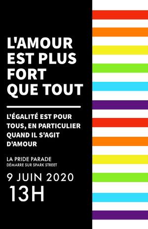 pride parade event poster  Affiche événementielle