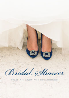 Bridal Shower Wedding Invitation Card with Shoes Shoes