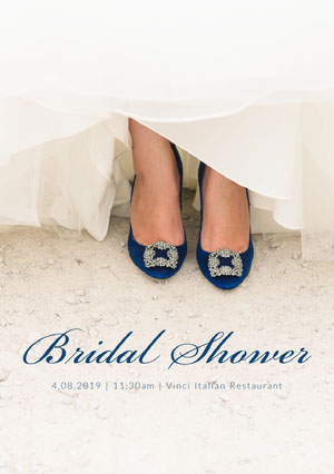 Bridal Shower Wedding Invitation Card with Shoes Invitación a despedida de soltera