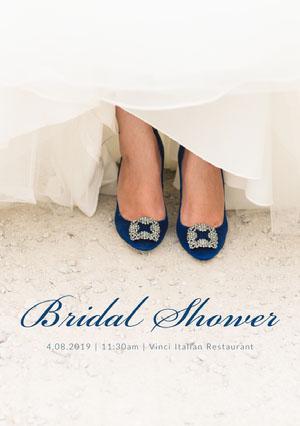 Bridal Shower Wedding Invitation Card with Shoes Bridal Shower Invitation