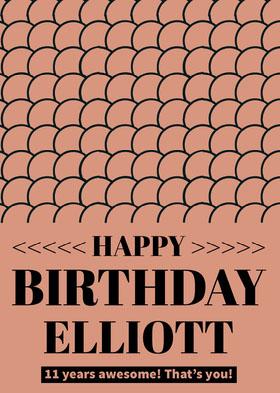 Beige Pattern Happy Birthday Card Bachelorette Party Invitation