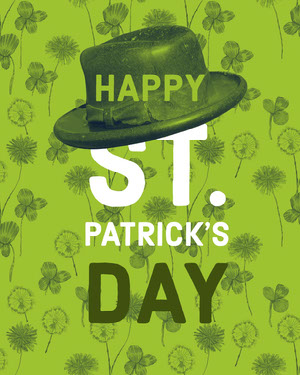 Green and White Saint Patricks Day Wishes Instagram Portrait St. Patrick's Day Templates