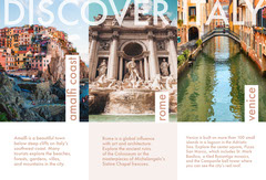 Italy Travel Brochure with Collage Italy