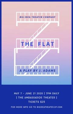White and Blue Flat Staircase Play Poster Play Poster