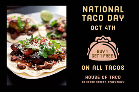 Black With Photo Of Taco Flyer Flyer