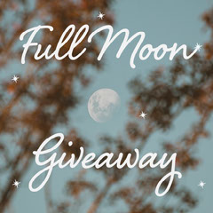Blue Full Moon Giveaway Instagram Square  Giveaway