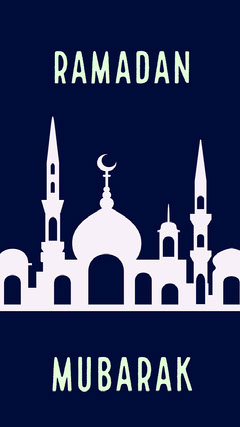 Navy Blue and White Ramadan Event Social Post Religion