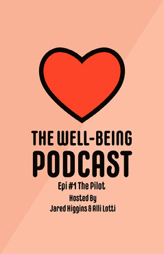 Pink and Red Heart Well-being Podcast Poster Podcast