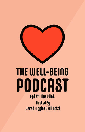 Pink and Red Heart Well-being Podcast Poster Pink Flyers