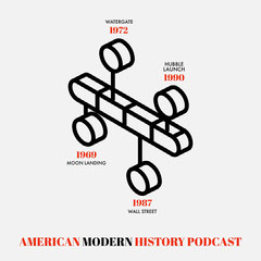 Black and White American History Podcast Square History