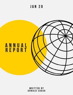 Yellow Geometric Globe Annual Business Report Relatório