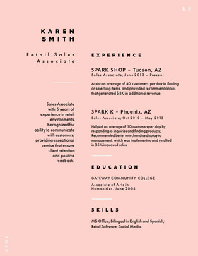 KAREN SMITH Creative Resume