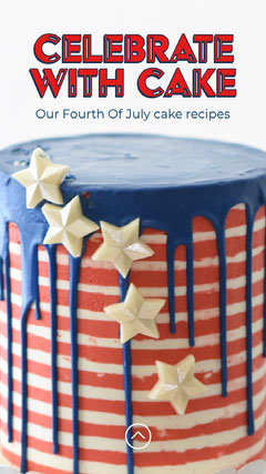 Red Striped Fourth of July Cake Recipe Instagram Story 4th of July