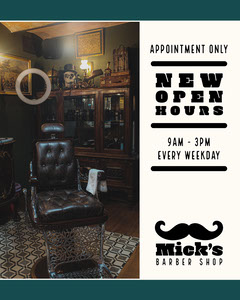 Micks Barber shop - IG portrait Barber