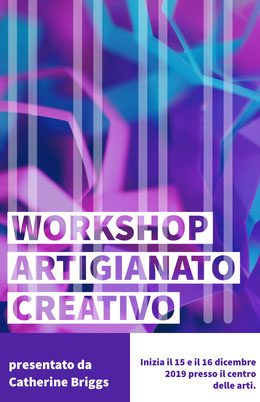 creative craft workshop poster Volantino
