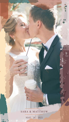 Earth Tone Modern Abstract Wedding Snapchat filter Paint