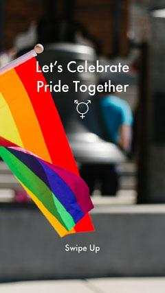 Rainbow Flag LGBT Equality Instagram Story Pride