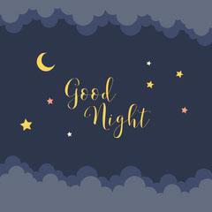 Dark Blue Night Sky Good Night Instagram Square Moon