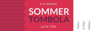 Sommer<BR>Tombola  Eintrittskarte