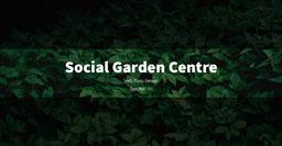 Black Overlay Green Leaves Social Garden Centre Facebook Post