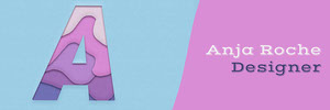 Pink and Blue Graphic Designer Horizontal Web Ad Banner  Banner