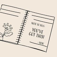 beige monochromatic notebook quote instagram  Leaf