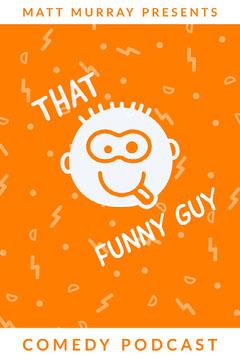 Orange and White Comedy Podcast Comedy