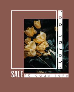 Yellow Flowers Floral Co. Sale Instagram Portrait Sale Flyer