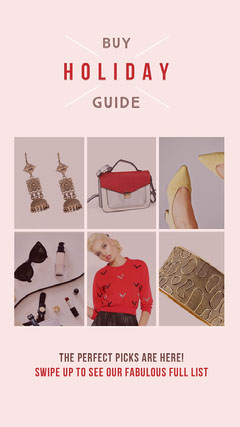 Pink With Photos Holiday Guide Social Post Guide