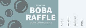 Blue Grand Opening Event Raffle Ticket Boleto de sorteo