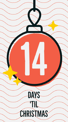 Red Christmas Bauble Countdown Instagram Story Countdown