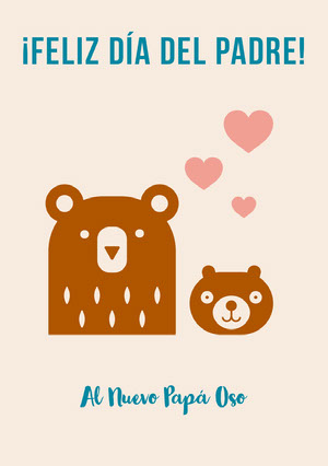 new papa bear Father's Day cards  Tarjeta