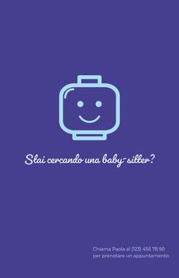 Stai cercando una baby-sitter? Volantino