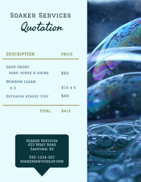 Bubbles Business Quotation presupuesto