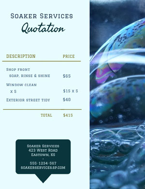 White and Blue Bubbles Business Quotation Quotation