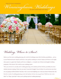 Yellow Wedding Planning Newsletter Graphic Yellow