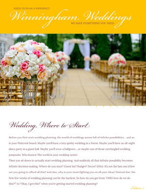 Winningham Weddings Newsletter