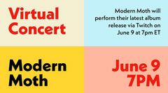 Virtual Concert Colorful Grid Announcement Conference Flyer