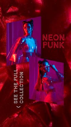 Neon Punk Fashion Instagram Story Neon