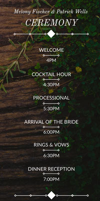 rustic wood wedding program mariage