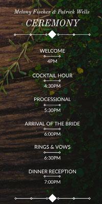 rustic wood wedding program Wedding