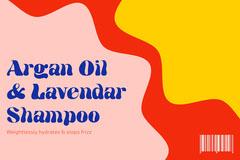 Colourful Shampoo Label Landscape Hair Salon