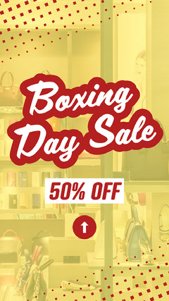 Red Boxing Day Sale Instagram Story Boxing