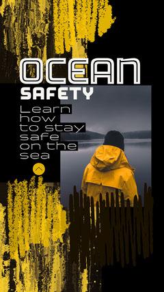 Yellow Black Ocean Instagram Story  Ocean