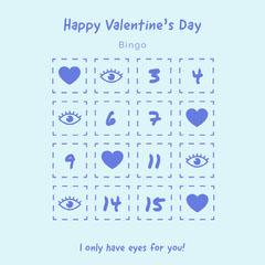 Eyes for you valentines bingo Valentine's Day