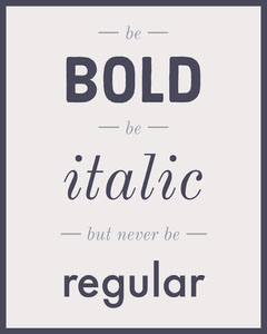 be bold type instagram portrait Typography